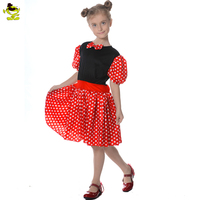 Fashion Kids Girls Party Costumes Short Sleeve Summer dress with Red Bow Tie for Birthday Party Princess Costumes Clothing
