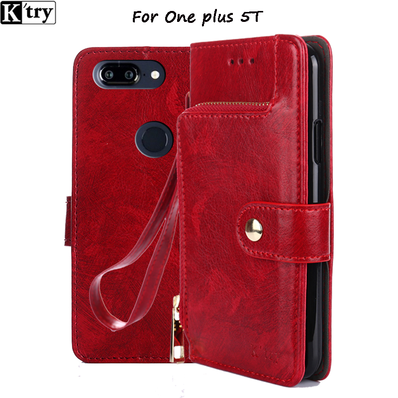 Oneplus 5T Flip Case Cover K'try original Oneplus5T Leather Flip Case OP 5T capa funda for 1+5T Full Cover case standing coque