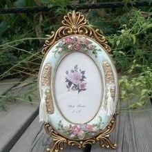 Ретро Винтаж зеленая Роза домашний Цветочный декор смола фото рамка