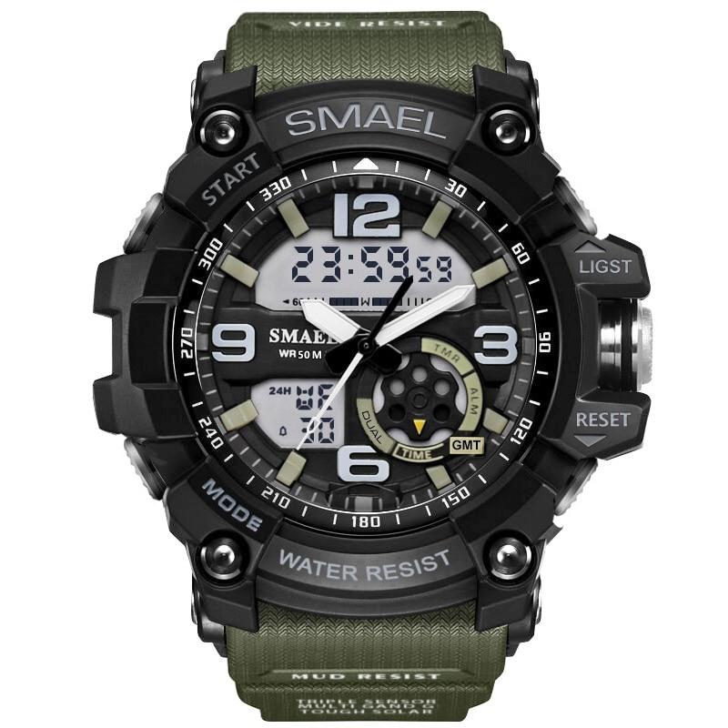 Sport Dual Digital Watch Quartz Shockproof Waterproof Led Display WristWatch Wrist Men Army Male Relogio Masculino Hodinky 41 стоимость