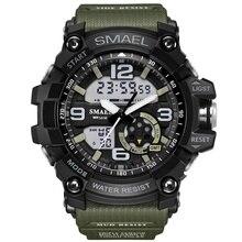 Deporte Digital de Doble Reloj de Cuarzo A Prueba de Choques Impermeable Pantalla Led Reloj de Pulsera Reloj de Los Hombres Del Ejército Masculino Relogio masculino Hodinky 46