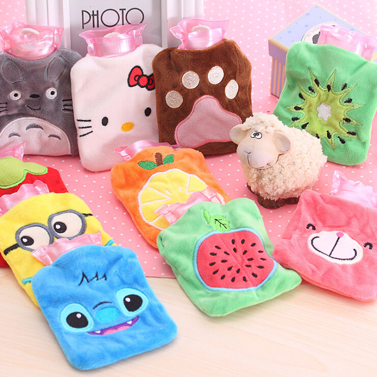 Multi Styles Lovely Plush Cartoon Hand Warmer High Quality PVC Hot Water Bag Anti-explosion Water-filling Bag for Winter lovely cartoon charging electric hot water bag environmental protection material safety explosion proof anti warm water bag