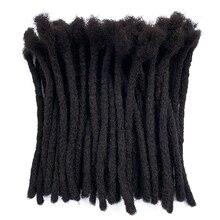 YONNA Remy человеческие волосы среднего размера(0,8 см ширина) дреды для наращивания Полная ручная работа продано 60 локов в пучке