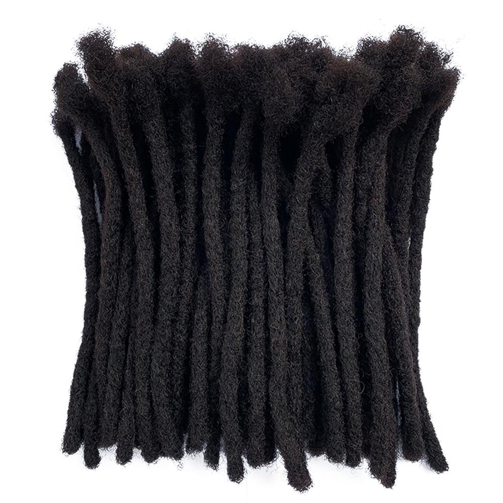 YONNA Cabelo Remy Humano de 100% Tamanho Médio (Largura 0.8 cm) dreadlocks Extensões LOCS 60 Completo Handmade VENDIDO EM UM PACOTE