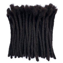 Yonna 100% 레미 휴먼 헤어 미디엄 사이즈 (0.8 cm 너비) dreadlocks extensions 풀 핸드 메이드 60 locs in a bundle