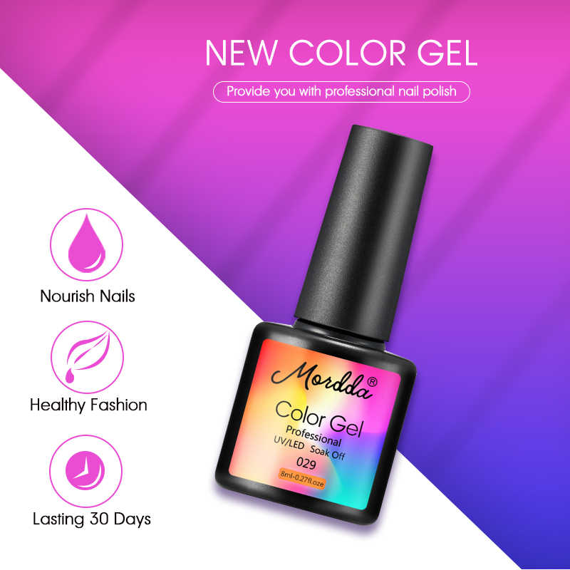 ROHWXY לספוג את ג 'ל לק 8ML 60 צבעים אמייל ג' ל הפולני UV ג 'ל לכה לכה מניקור נייל אמנות עיצוב