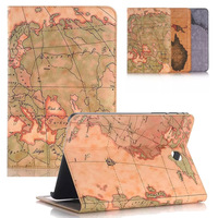 For Funda Samsung Galaxy Tab A 8 0 SM T350 SM T355 Cover World Map PU