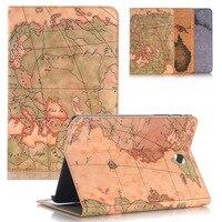 For Funda Samsung Galaxy Tab A 8 0 SM T350 SM T355 Cover World Map PU