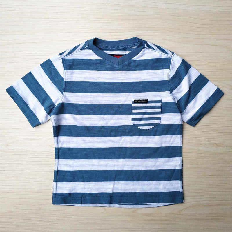 Baby Jongen Skate Wit Strip Pocket T-shirt USA Maat 2 Jaar
