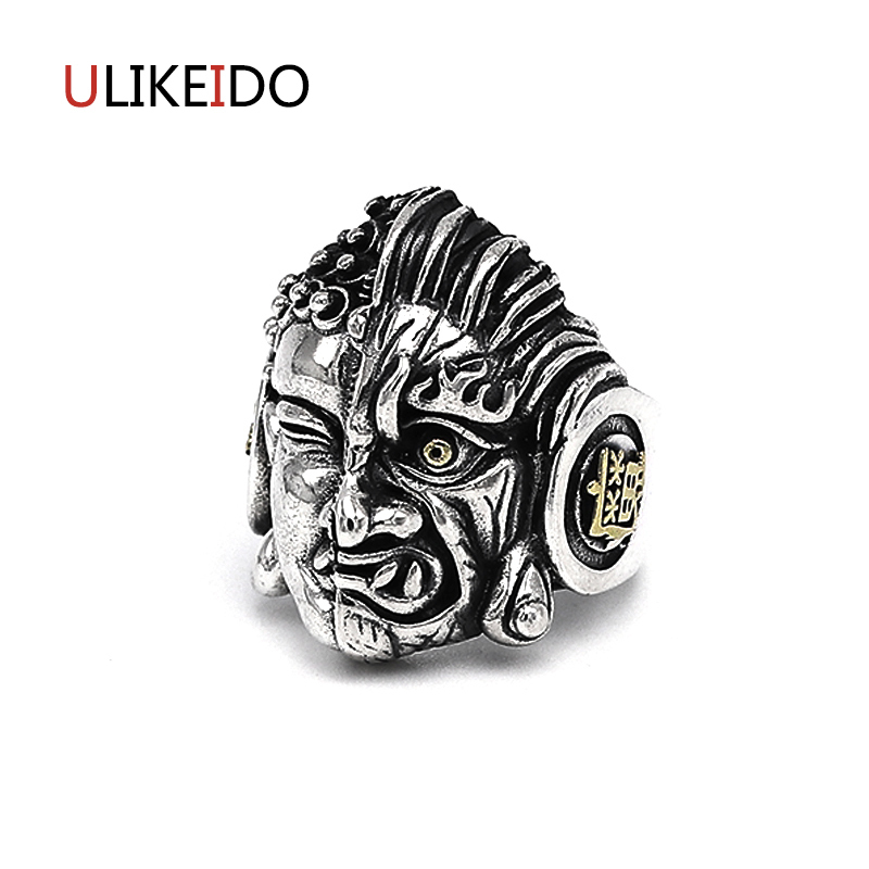 Real 925 Sterling Silver Jewelry Buddha Magic Rings Adjust Punk Thai Silver Ring Letter For Men And Women Birthday Gift 561Real 925 Sterling Silver Jewelry Buddha Magic Rings Adjust Punk Thai Silver Ring Letter For Men And Women Birthday Gift 561