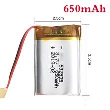 1/2/4 шт 3,7 V 650mAh 602535 Перезаряжаемые литий-полимерный литий-ионный аккумулятор Батарея с PCB для Bluetooth гарнитура gps MP3 MP4 Оборудование для psp Регистраторы