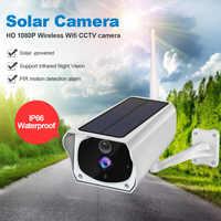 LOOSAFE HD 1080P Solar Panel Power IP kamera Für Drahtlose Kamera WiFi Indoor Outdoor Kamera PIR Remote Detector Wasserdicht
