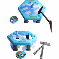 Interactive Ice Breaking Table Penguin Trap Children Funny Game Penguin Trap Activate Entertainment Toy For Kids