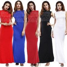 2019 large size summer new sleeveless dress long Slim women dresses plus