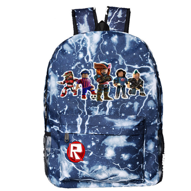 US $16 14 5% OFF|Roblox backpack Children students schoolbags Galaxy  pattern laptop books backpacks Roblox rucksack-in Backpacks from Luggage &  Bags