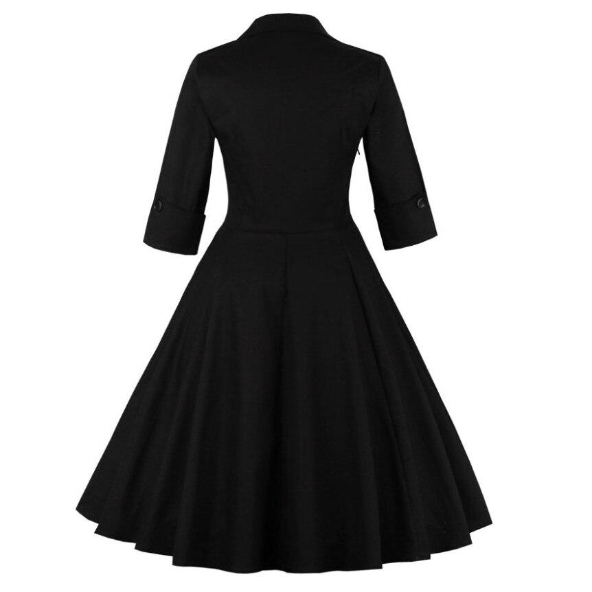 Vintage rockabilly retro casual dress 3
