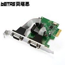RS-232Add En Tarjetas PCI-E Para 2 Puertos RS232 Puerto Serie COM para PCI-E PCI Express riser Card Adaptador Convertidor HBB chipest