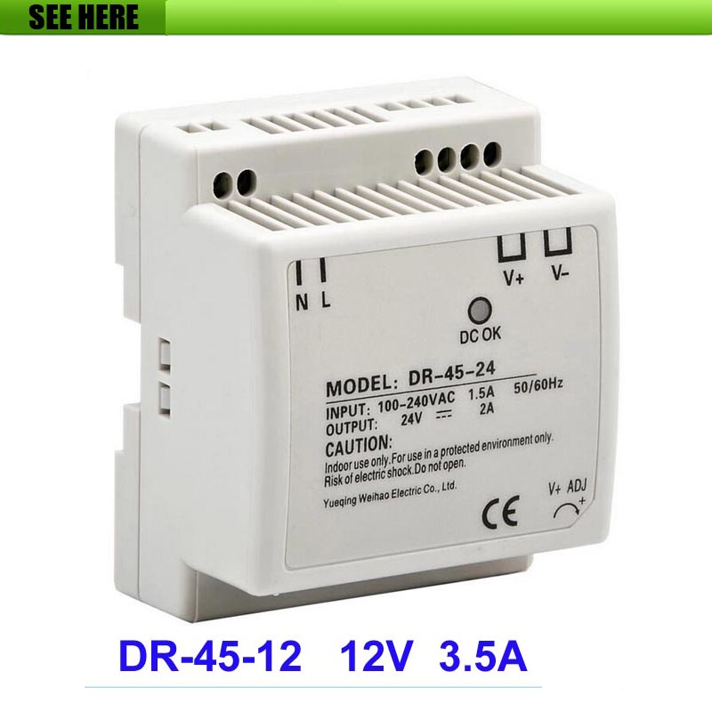 Free Shipping Best quality 45W 12V 3.5A Mini size LED Switching Power Supply Transformer Input 85~264(V) AC to DC 12V Output high quality aluminium dc12v 21a 250w waterproof power supply ip67 led transformer free shipping