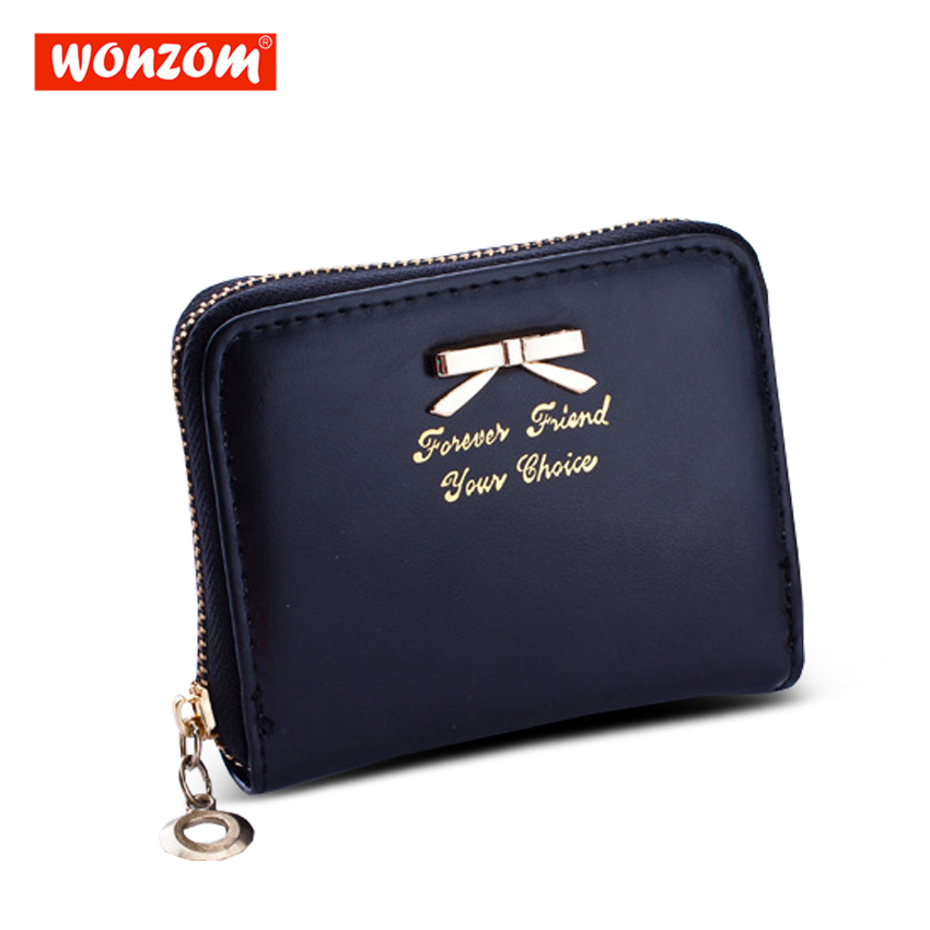 WONZOM Women Wallets Female PU Leather Womens Zipper Design With Coin Purse Pockets Mini Wallet