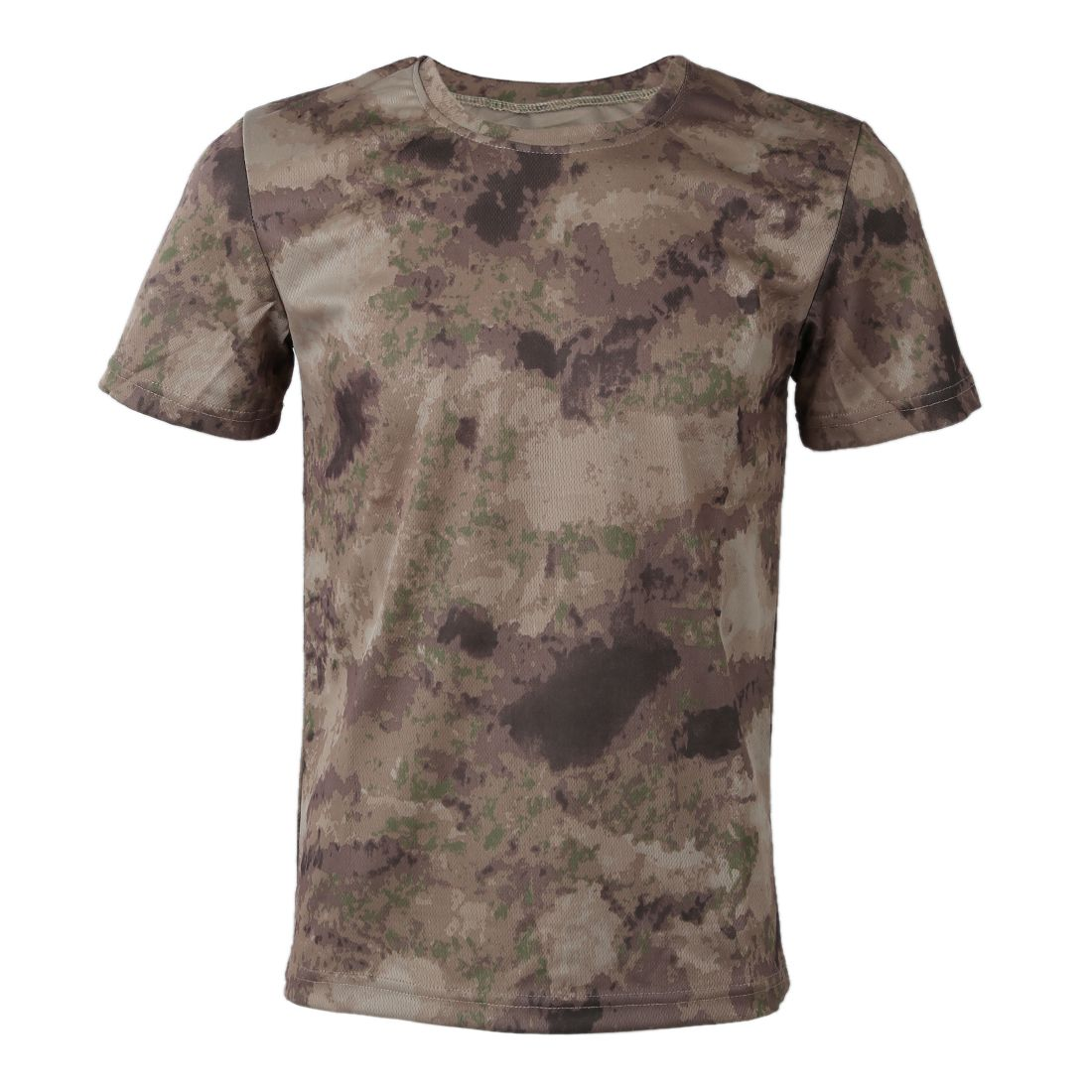 New Outdoor Hunting Camouflage T-shirt Men Breathable Army Combat T Shirt Military Dry Sport Camo Camp Tees-Ruins Yellow XXXL