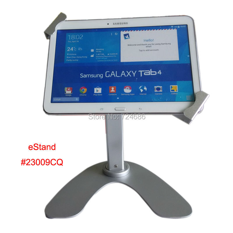 7-10.1 tablet table rotation stand with security lock bracket POS kisok for Toshiba/ Huawei display on restaurant