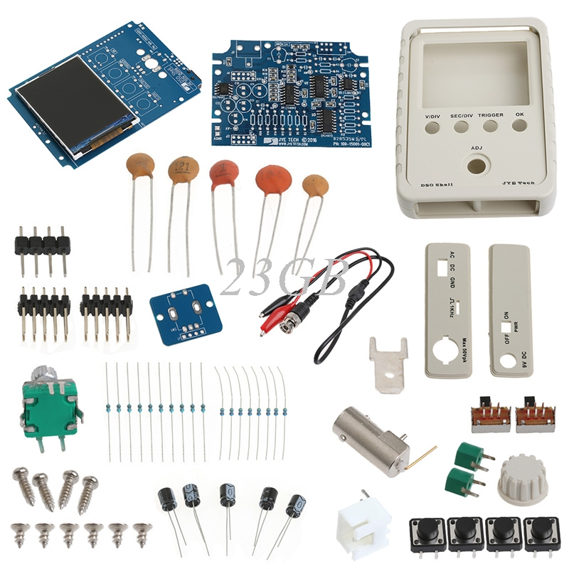 2017 Mini AVR DSO150 Pocket Digital Oscilloscope Kit+USB Cable and Probe DIY Learning MAR24_15 dso 150 2 0 lcd usb dual channel oscilloscope