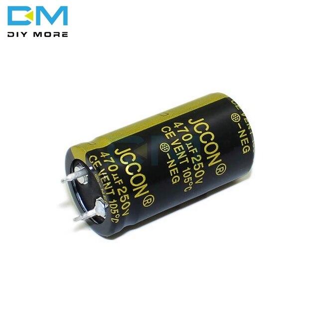 2Pcs Electrolytic Capacitors 250V 820uF Volume 30x40 mm 820uF 250V ...
