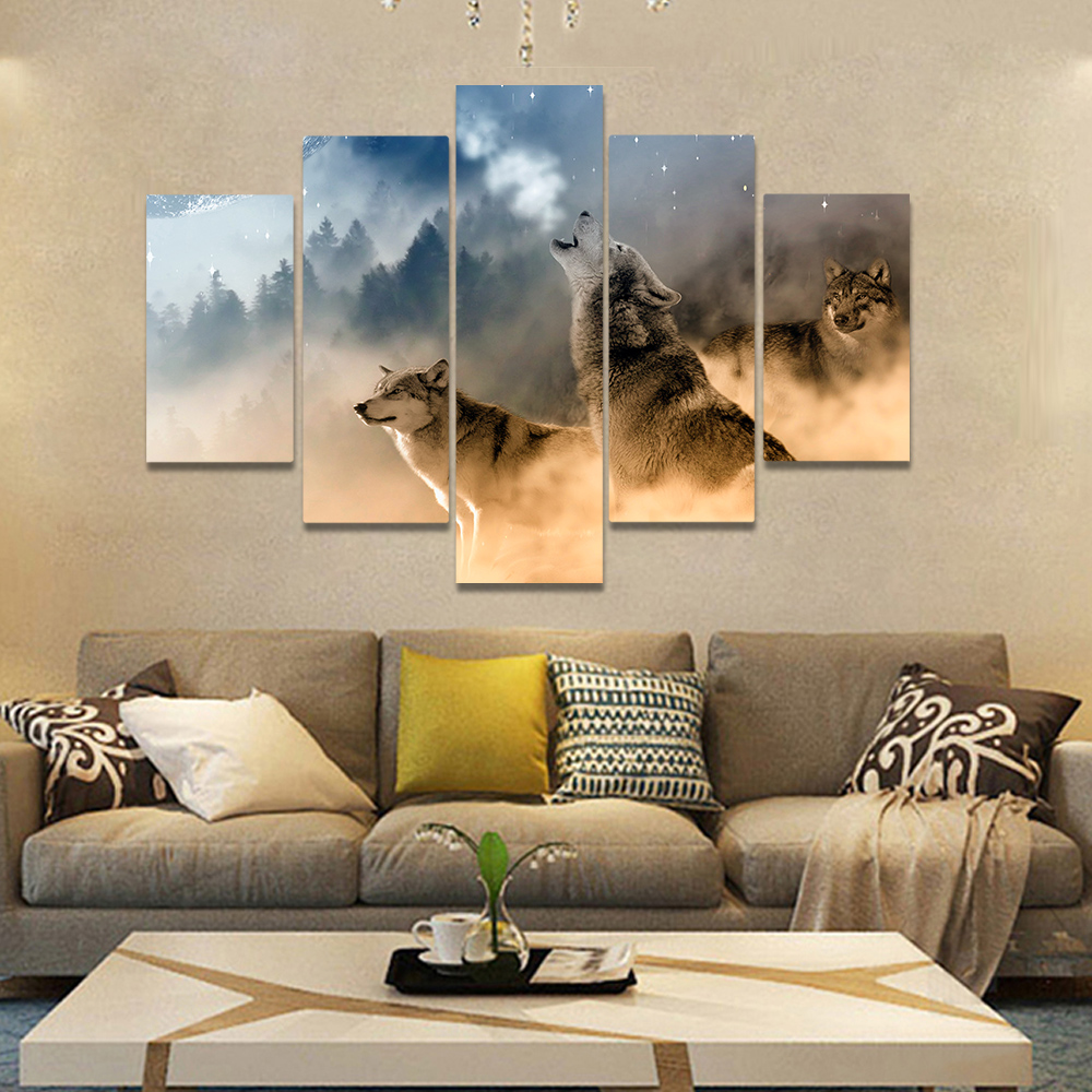 Unframed Canvas Painting Cold Weather Wolves Wolverine Art Picture Prints Wall Picture For Living Room Wall Art Decoration