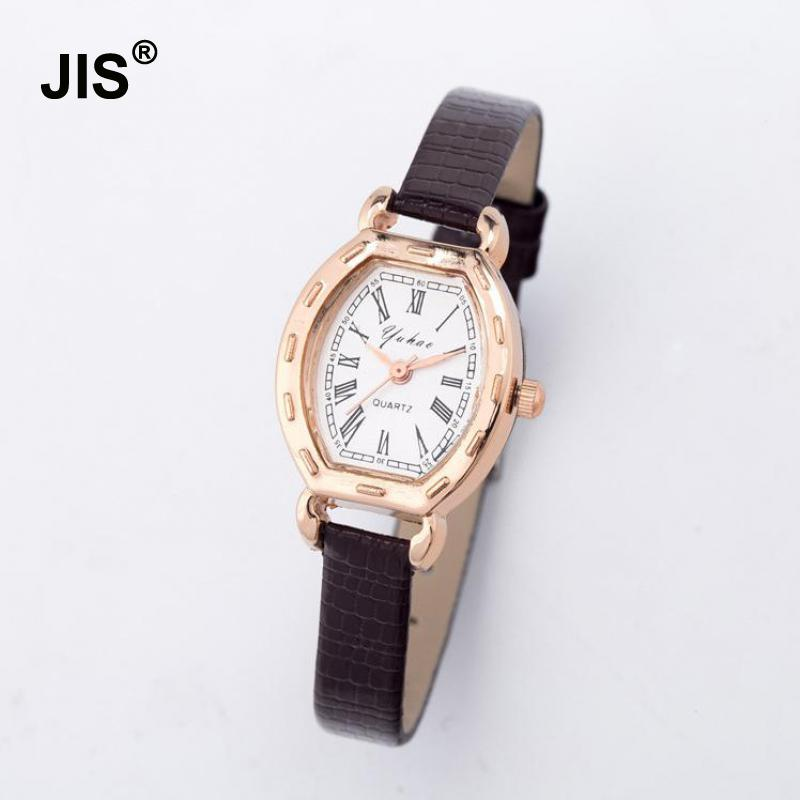 Luxury Mini Small Dial Rose Gold Snake Genuine Leather Wrist Watch Wristwatches for Women Ladies Girls Pink Black White cute rose gold crystal flower thin strap small dial leather quartz women ladies wristwatches wrist watch gift