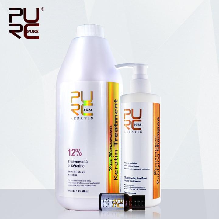 Кератин 12% фиксированных формалином парафином 1000 мл кератин выпрямления волос и глубокий очистительные волос шампунь получить по уходу за ...