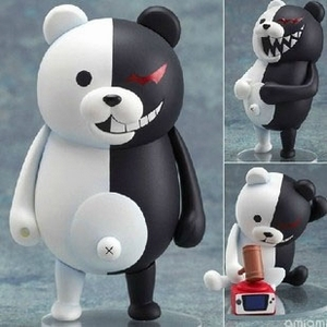 Free Shipping Cute 4 Nendoroid Monokuma Super Dangan Ronpa Anime PVC Acton Figure Model Collection Toy #313 MNFG057 original box sonic the hedgehog vivid nendoroid series pvc action figure collection pvc model children kids toys free shipping