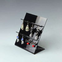 8 Holes Earring Holder Ear Stud Jewelry Stand Display Stand Showcase Rack Black Acrylic Material