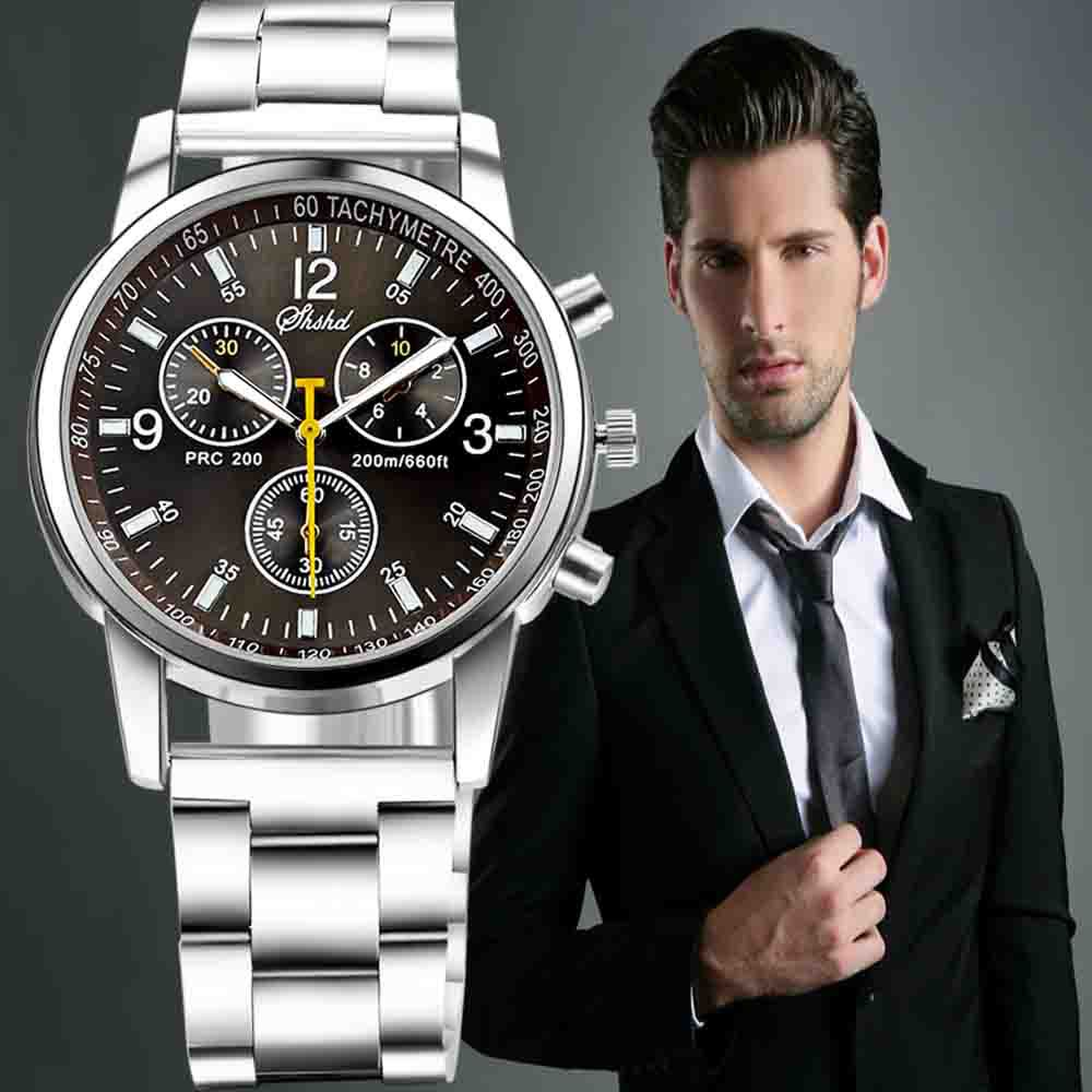 military large leather watches clock sport relogio chronograph dial brand item strap on fashion quartz masculino waterproof watch design from in mens benyar