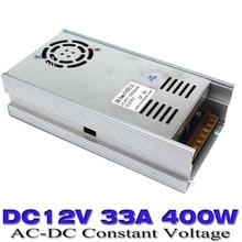 Новая модель DC12V 33a 400 Вт Питание Трансформатор 110 В 220 В переменного тока smps для LED лампа Газа ЧПУ CCTV