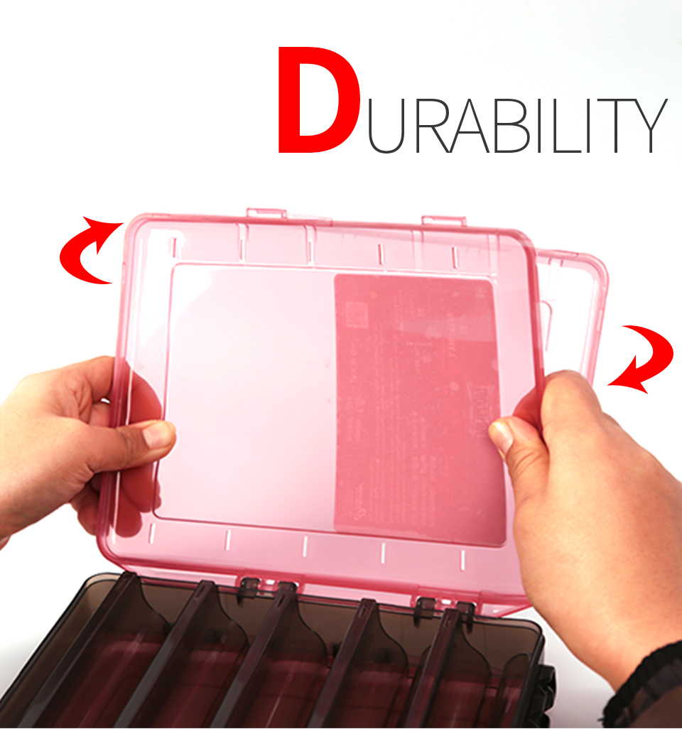 Kingdom Fishing Tackle Box Fish Lures Hooks Baits Compartments Storage Case Box Fishing Tackle Box for Pesca Fishing Accessories (2)