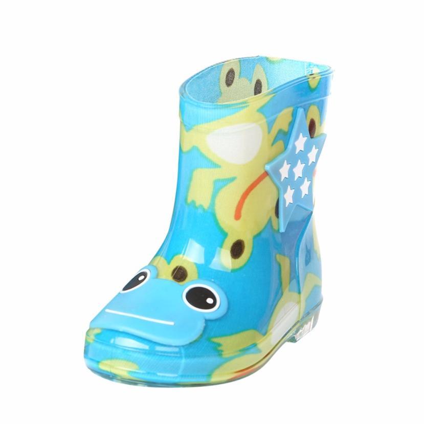 BMF TELOTUNY Fashion Waterproof Child Animal Rubber Infant Baby Rain Boots Kids Children Rain Shoes Boots Apr26 Drop Ship