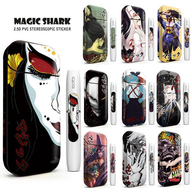 Magic Shark Anime Blood For IQOS Sticker 2.4 Plus Skin Cover Case Hot Sale 2.4p