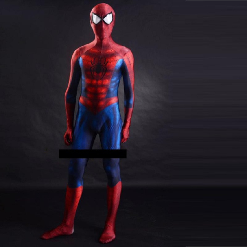 Di Alta Qualità Su Ordinazione The Amazing Spiderman Cosplay Tuta Spandex Costume Adulto Nero Amazing Spider Man Lycra Zentai Costumes