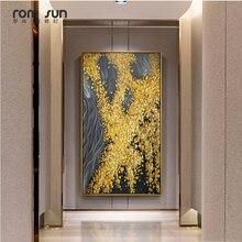 פוסטר בסגנון נורדי נקודה צהובה בד תמונות אמנות קיר ציור לסלון בית תפאורה והדפסי HD מודרני עלה כותרת