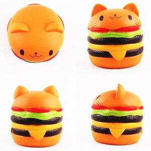 Image 5 - 3Pcs Zachte Ijs Hamburger Squishy Set Jumbo Langzaam Stijgende Voedsel Anti Stress Squish Speelgoed Voor Kinderen Volwassen squeeze Xmas Gift