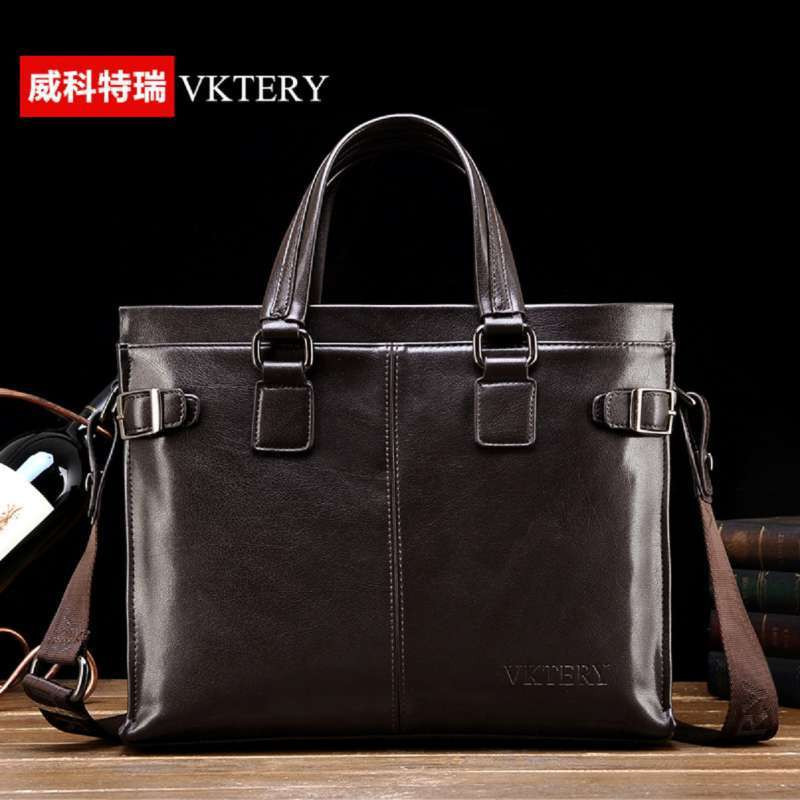 ФОТО VKTERY Fashion Luxury Brand PU Leather Business Briefcase Men Handbag Messenger Bag Casual Shoulder Bag Crossbody Bag Bolsas