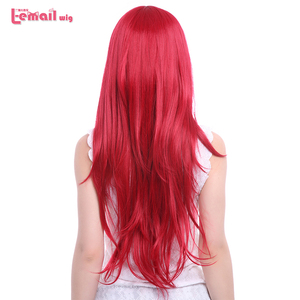 Image 5 - L email wig New Arrival Women Wigs 6 Colors 80cm Long Straight Heat Resistant Synthetic Hair Perucas Cosplay Wig
