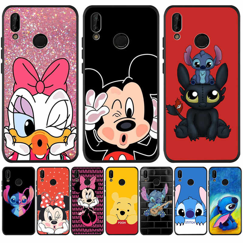 Artoon Mewah Stitch Diy untuk Huawei P8 P10 P20 P30 Mate 10 20 Honor 8 8X 8C 9 V20 10 lite Plus Pro Case Cover Coque Etui Funda