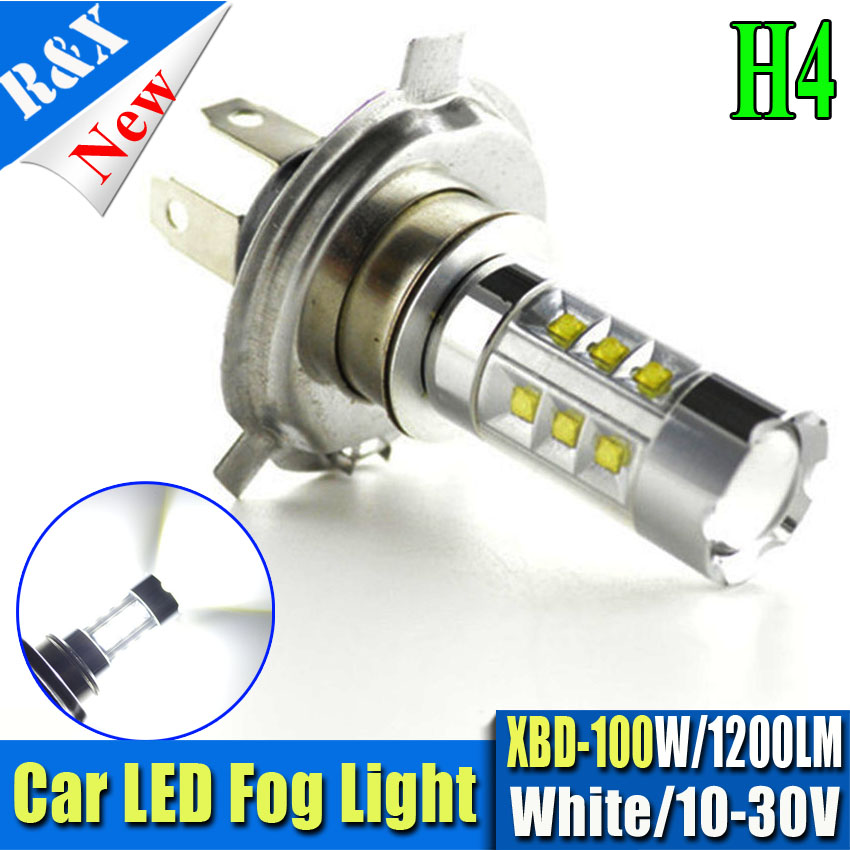 2pcs Led Bulb 100W High Power H11 H7 H4 HB3 HB4 1156 1157 BAU15S PWY24W LED Car Fog lamp Fog Light 1200LM White car light source