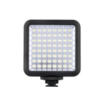 Godox LED64 Portable & Dimmable Continuous On Camera LED Panel Video Light for DSLR Cameras & Camcorders, 5500K 6500K Color Temp