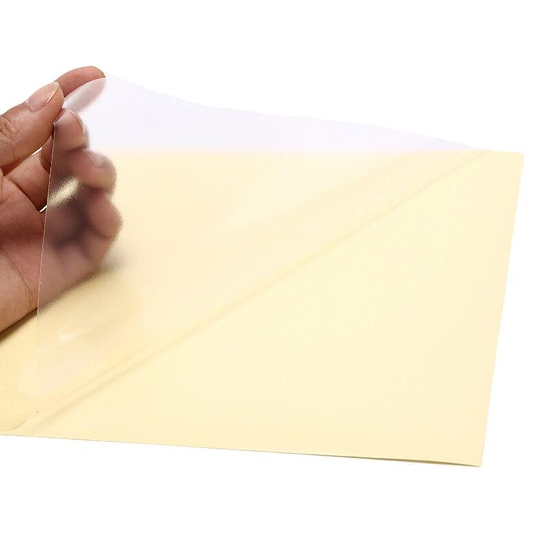 10Sheets A4 Clear Transparent Self Adhesive Vinyl Film Label Sticker For Laser Printer 21 X 29.7cm