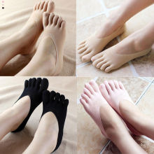 Популярные Модные забавные носки с пятью пальцами; женские тапочки; невидимые носки с низким вырезом; однотонные носки; Дышащие носки