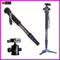 Manbily A 222 165cm Portable Professional DSLR Monopod Walking Stick With M 1 Mini Tripod Stand
