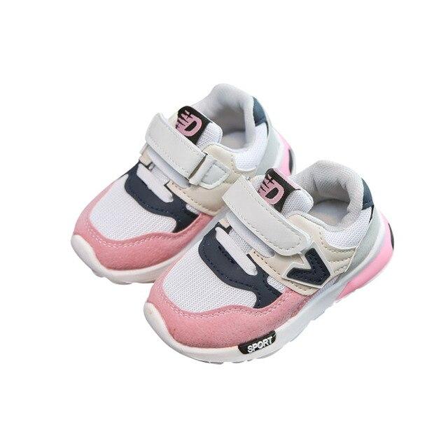 ילדים חם מכירת נעלי ריצה לנשימה רשת נעלי ילדים נעלי 2018 אביב חדש סניקרס מקרית רך החלקה בייבי לפעוטות נעלי