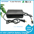 Auto-Stop 47.45V 3.5A 4A 4.5A 5A LifePO4 Battery Charger For 13S 3.65V / 3.7V Life po4 Battery Pack